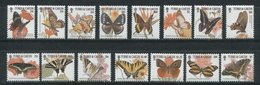 Turks And Caicos 2001 Butterflies Insects Set MNH - Schmetterlinge