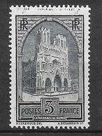 France Rare N° 259b Type III  Cathédrale De Reims   Neuf **  B /   TB    Soldé à  Moins De 10 %  Le Moins Cher Du Site ! - France