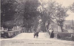 BACDEC19-  LALINDE  EN DORDOGNE ENTREE DE LA VILLE    CPA  CIRCULEE RARE - France