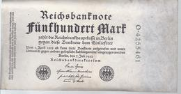 AK-23476 - 500  Reichsmark  -O - 4255461 V. 7. Juli 1922 - [ 3] 1918-1933 : République De Weimar