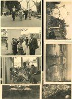 Bruxelles Brussel Exposition 1958 Lot De 9 Petites Photos 8 X 12 Cm - Lugares