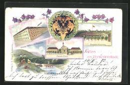 AK Theresienstadt / Terezin, Kleine Infanterie-Kaserne, Pionier-Übungsplatz, Pionier-Kaserne, Parade-Platz - Czech Republic