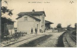 CPA 18 LEVET La Gare Interieure Vue Peu Courante - France