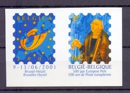 2901 Belgica 2001 ONGETAND POSTFRIS**  2000 - Belgique