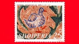 Nuovo - MNH - ALBANIA - Shqiperia - 1970 - Mosaici Del 5°- 6° Secolo Rinvenuti Vicino Pogradec - Uccelli E Foglie - 25 - Albania