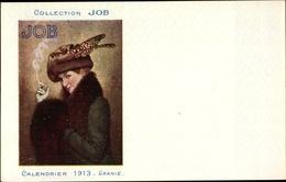 Artiste Cp Granie, Calendrier 1913, Collection Job, Reklame, Rauchende Frau - Beroemde Personen