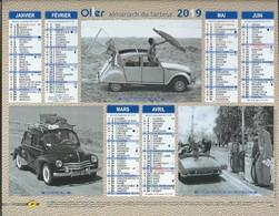 Almanach Des PTT 2019 -. Voitures Française  4 Cv.. . DS . 2 CV . 4 L  .Simca 1000..  . Interieur Gers - Calendars
