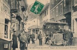 J3 - 73 - BOURG-SAINT-MAURICE - Savoie - Départ De L'Autobus Pour Moutiers - Bourg Saint Maurice