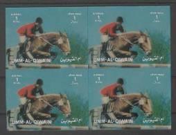 Umm Al Qiwain (1972)  3D - Block Of 4  /  Olympic Games - Riding - Equitation - Reiten - Summer 1972: Munich