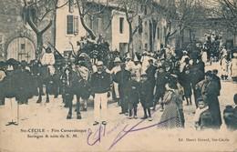 J3 - 84 - SAINTE-CÉCILE - Vaucluse - Fête Carnavalesque - Seringue Et Suite De S.M. - France