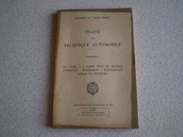 Militaria,Forces Armées,traité De Technique Automobile 1, Le Cycle à 4 Temps Beau De Rochas,puissance,rendement,essais - Francese