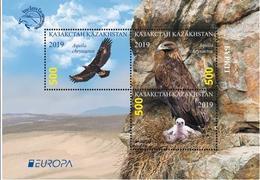 Kazakhstan 2019.Block. Golden Eagle. NEW!!! - Eagles & Birds Of Prey