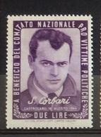 PRO VITTIME POLITICHE  L. 2  S.CORBARI - Francobolli