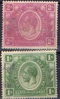 COLONIES BRITANNIQUES !  Timbres Anciens De KENYA -OUGANDA De 1922 N°10 Et 11 - Kenya & Uganda