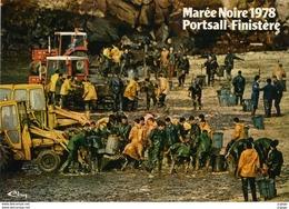 PORTSALL   MARÉE NOIRE 16 Mars  1978.   TBE - Ploudalmézeau