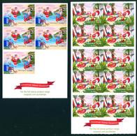 Christmas Island 2011 Xmas Adhesive 2 Carnets Booklets MNH - Christmas Island