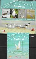 TUVALU, 2019, MNH,  BIRDS, SEABIRDS, TERNS,HERONS, SHEETLET+S/SHEET , HIGH FV - Pájaros