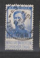 COB 125 Oblitération Centrale BRUXELLES 1P - 1912 Pellens