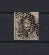 N°10A GESTEMPELD MET 4 MARGES COB € 12,00 SUPERBE - 1858-1862 Medallions (9/12)