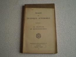 Militaria,Forces Armées,traité De Technique Automobile 6, Le Graissage, Le Refroidissement. 1953 - Books