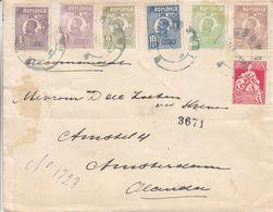 Roumanie - Lettre De 1918 ° - Oblit Moreni - Exp Vers Amsterdam - - 1881-1918: Carol I.