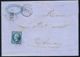 FRANCE, NIEVRE - Obl. GC2654 De NEVERS Du 19/05/1864 Sur  Affrt Yvert N°22 - Marcophilie (Lettres)