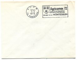 YVELINES De MONTESSON  Flamme En Port Payé Sur  Env. De 1972 - Postmark Collection (Covers)