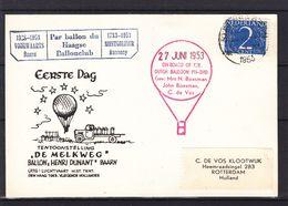 Pays Bas - Carte Postale De 1953 - Vol Par Ballon - Montgolfière - - Periode 1949-1980 (Juliana)