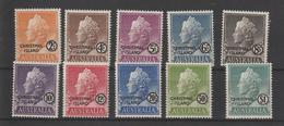 Ile Christmas 1958 Elisabeth II 1-10 10 Val ** MNH - Christmas Island