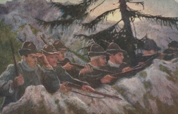 ***  MILITARIA ***  Guerra Indipendenza Italiana - Alpini In Trincea ( Valle Giudicaria ) Croix Rouge - Militari