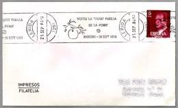 "Visite La ""CIUTAT PUBILLA DE LA POMA"" BARBENS. Manzana - Apple. Lerida 1984 - Frutas"