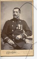 CDV. Carte De Visite.Militaire. Soldat. COL Numéro 22 . Médailles Militaire . JOURDAN VOIRON - Anciennes (Av. 1900)