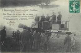 CATASTROPHE DU DIRIGEABLE MILITAIRE RÉPUBLIQUE Le 25 Septembre 1909,nacelle Avant Le Départ. - Dirigeables