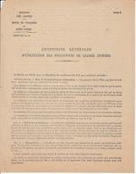 """DROME DOC """" CONDITIONS GENERALES D'UTILISATION DES PRISONNIERS DE GUERRE ENNEMIS"""" PG DE L'AXE MONTELIMAR 01/01/1946 DEPO - Documentos Históricos"""