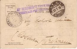 (CM).Posta Militare 5^ Divisione Su Cartolina Portoghese.40° Reggim.Fanteria (162-a17) - Altre Guerre