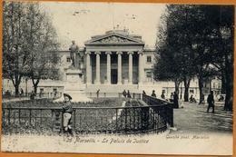13 / MARSEILLE - Palais De Justice, Statue (tampon 1906) - Marsiglia