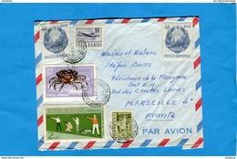 MARCOPHILIE-ROUMANIE-lettre >Françe Cad-bureau D'échange Bucarest- Gare Du Nord -1969-6-stamps Tir+crustacé+avion - Covers & Documents