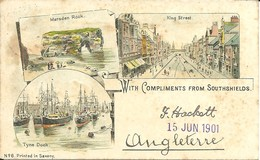 - ROYAUME-UNI -  SOUTHSHIELDS - Carte Miniature 12x7,5 - Inghilterra