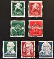 1935 Heldengedenktag Mi.569-570,Reichsberufswettkamp Mi.571-572,Schütz-,Bach-Händel-,Feier Mi.573-575 - Alemania