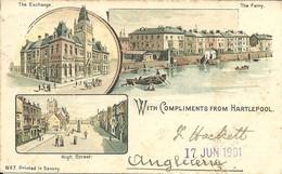 - ROYAUME-UNI -  HARTLEPOOL - Carte Miniature 12x7,5 - 2 Scans - Inghilterra