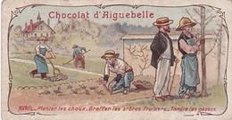 Chromo : Aiguebelle : - AVRIL - Planter Les Choux ..... - Aiguebelle