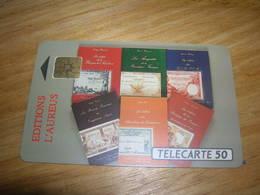 Telecarte France 50u Privee D418 D 418 Aureus L Edition Du Livre 1000ex TTB Peut Etre Neuve - Francia