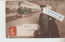 LE LUART : Amitiés,Train,Homme.(abimée En Bas). - France