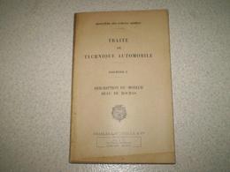 Militaria,Forces Armées,traité De Technique Automobile 2, Description Du Moteur Beau De Rochas 1950 - Books