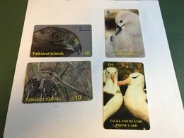 Falkland Islands - 4 Different Phonecards With Birds - Islas Malvinas