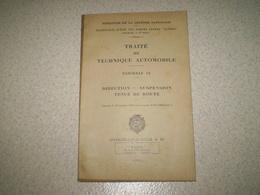 Militaria,Forces Armées,traité De Technique Automobile 12, Direction, Suspension, Tenue De Route, 1951 - Francese