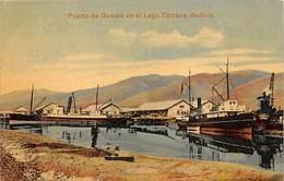 BOLIVIA.- PUERTO DE GUAQUI EN EL LAGO TITICACA - Bolivia
