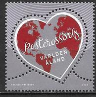Aland 2019 Timbre Neuf Post Crossing Coeur - Aland