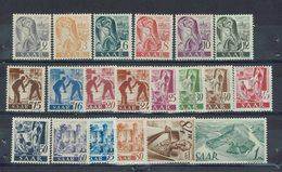 Sarre - 1947 - Série 196/215 - Neufs X - Traces De Charnières Très Légères - TTB - - 1947-56 Ocupación Aliada