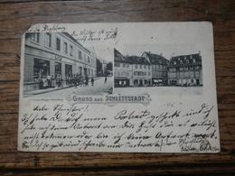 Cpa Gruss Aus Schlettstadt (Selestat ) Voyagée 1899 - Selestat